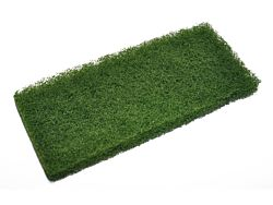 Grøn skurepad til holder